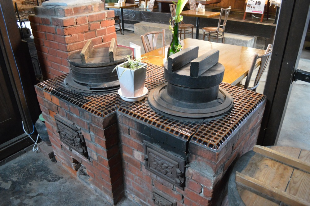 Don't miss the traditional wood-fired cooker which is just beyond the tasting area.