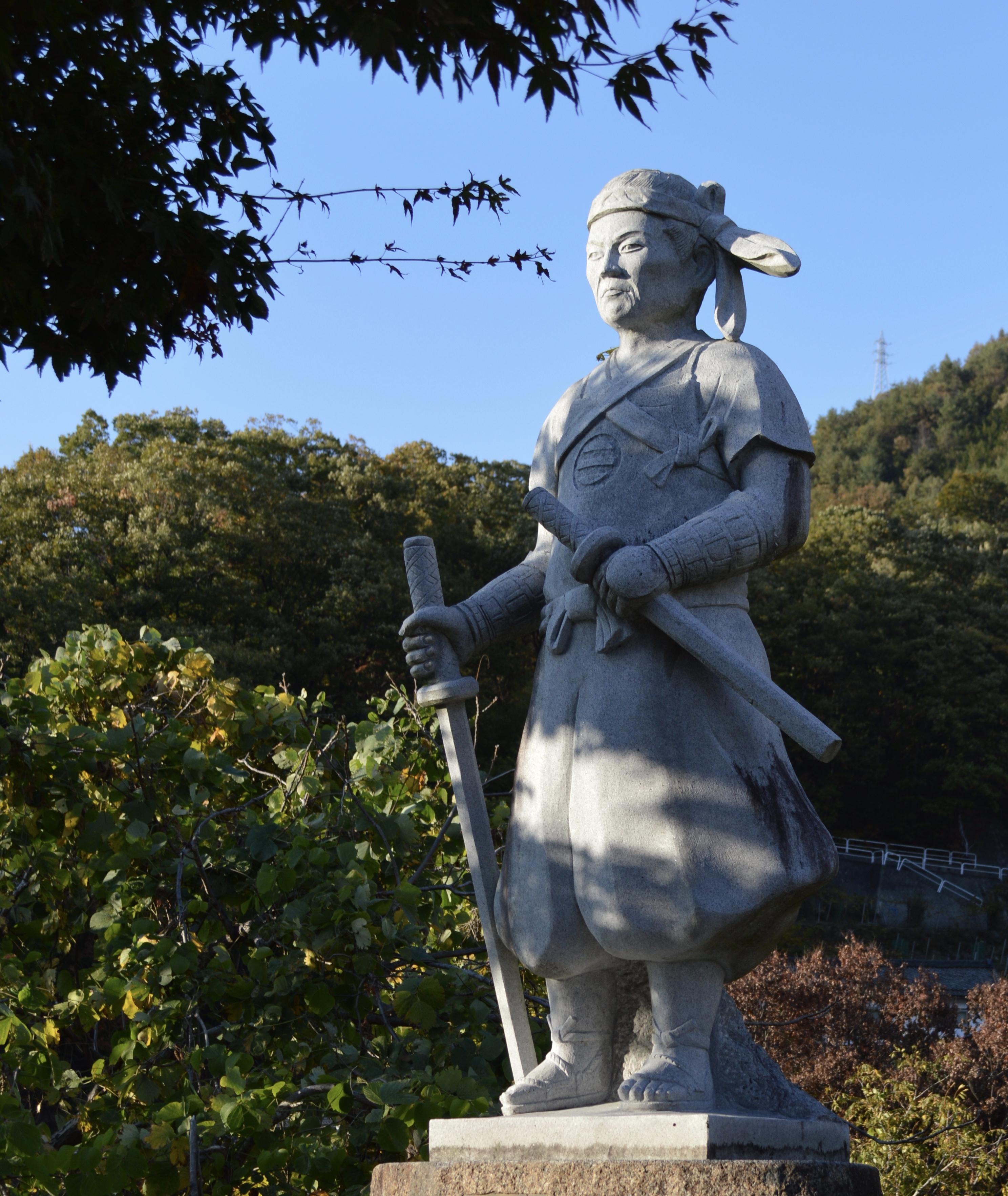 The memorial to the battle of Koshu-Katsunuma near Daizen-ji Temple.