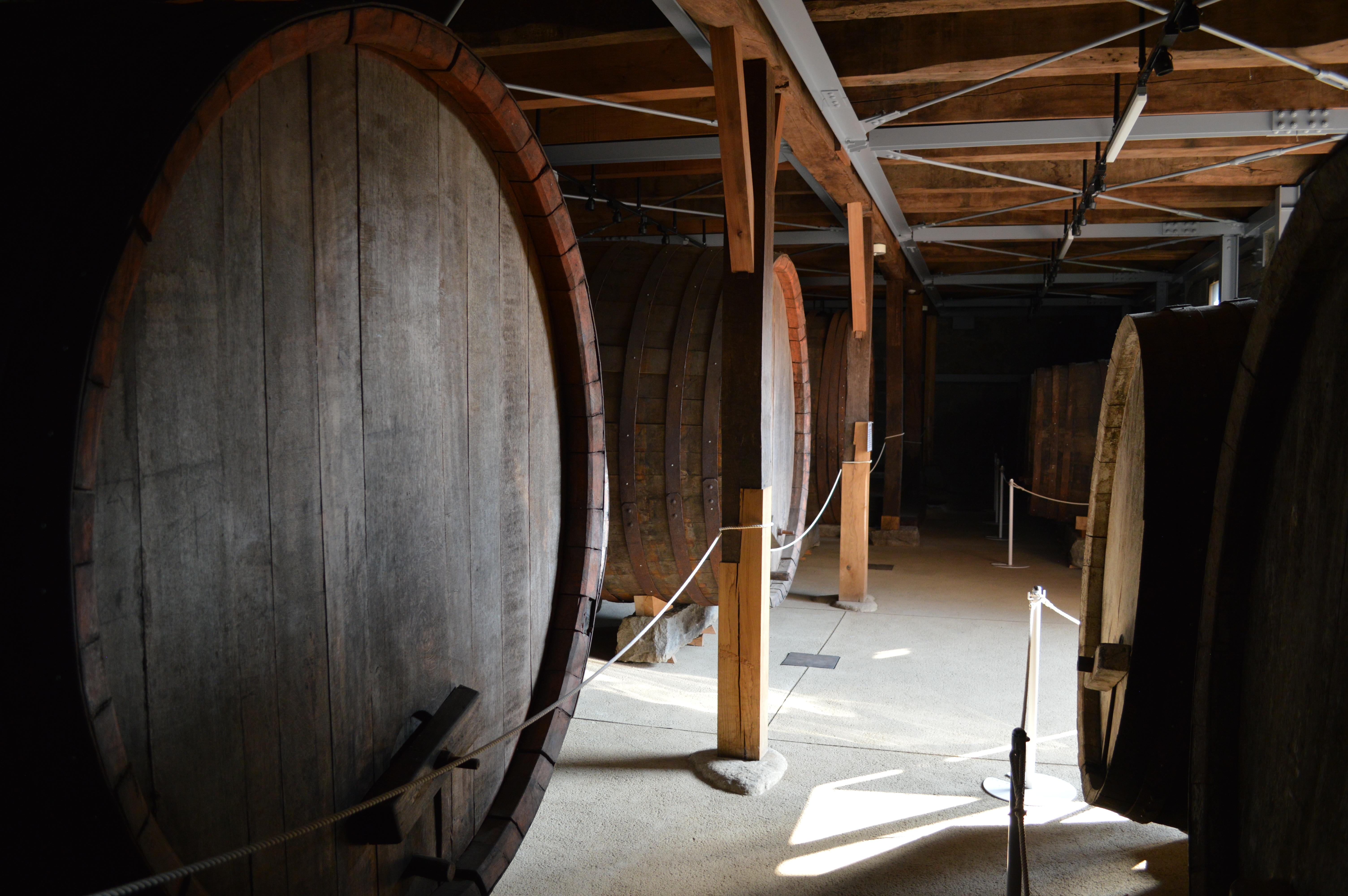 Massive oak barrels
