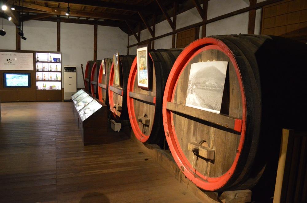 Enormous oak barrels