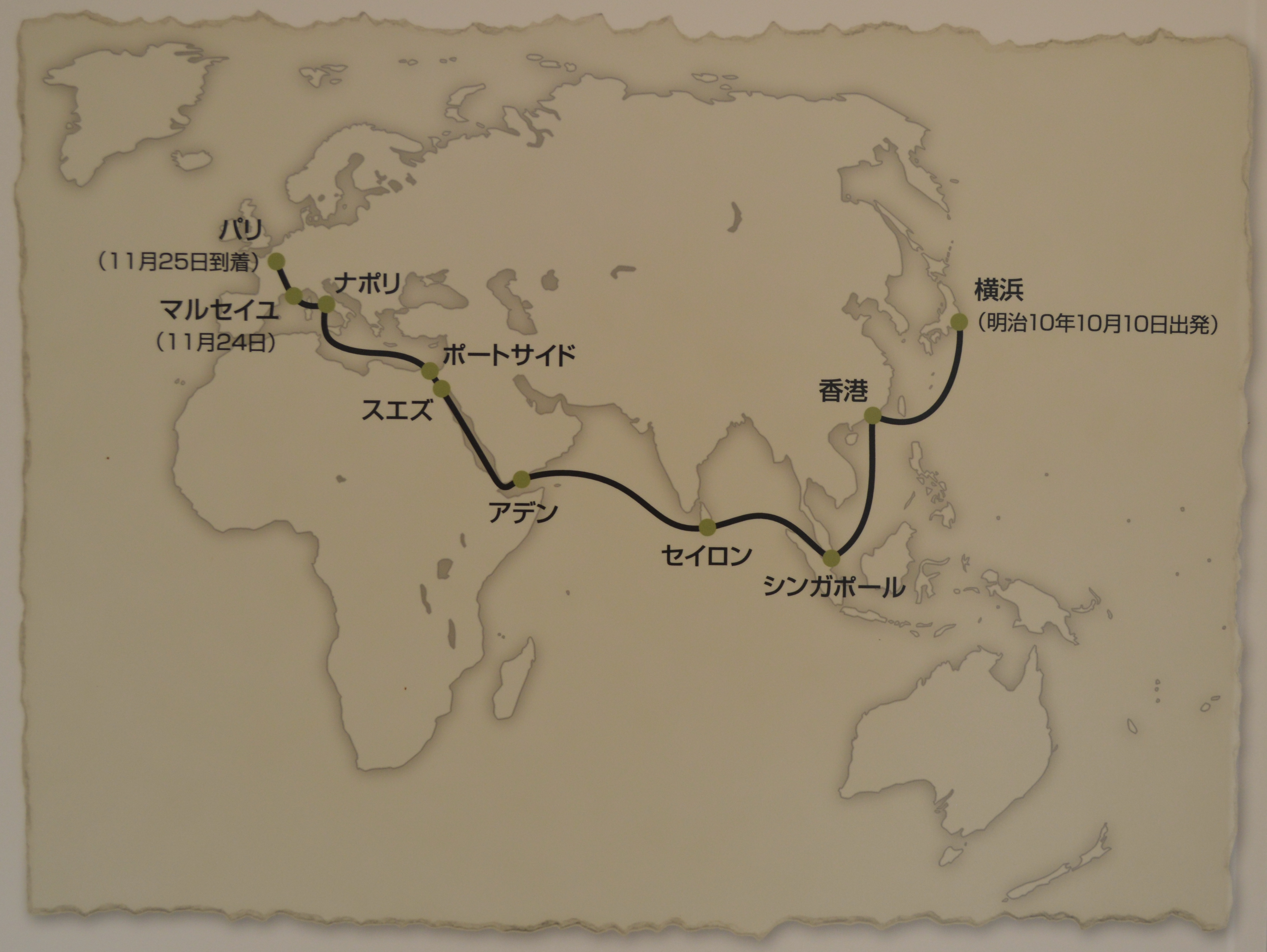 Map of the journey