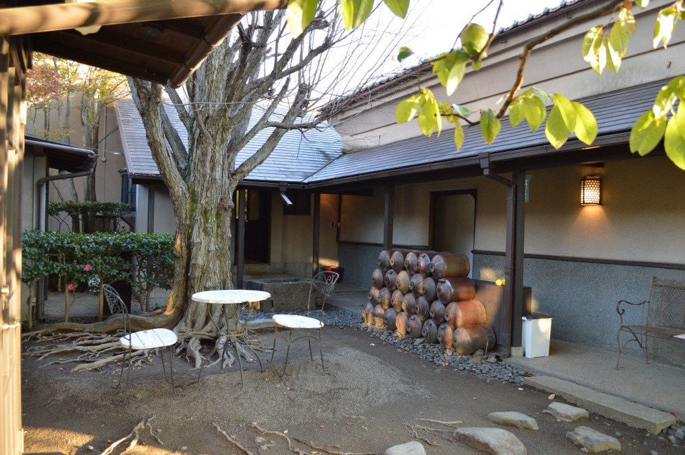 The Inner courtyard of Suzuki-En B&B