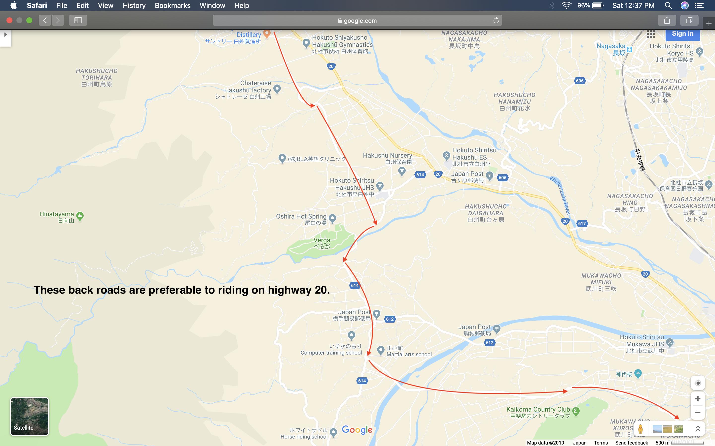 Map 2: Nagano to Mount Fuji Area