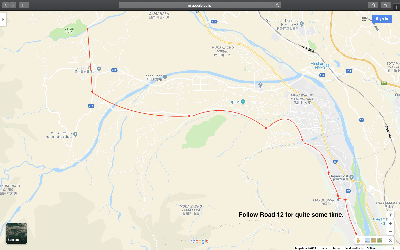 Map 3: Nagano to Mount Fuji Area