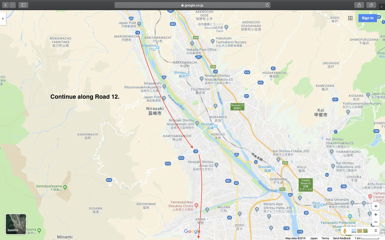 Map 4: Nagano to Mount Fuji Area