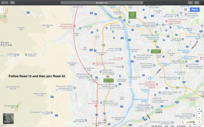 Map 5: Nagano to Mount Fuji Area
