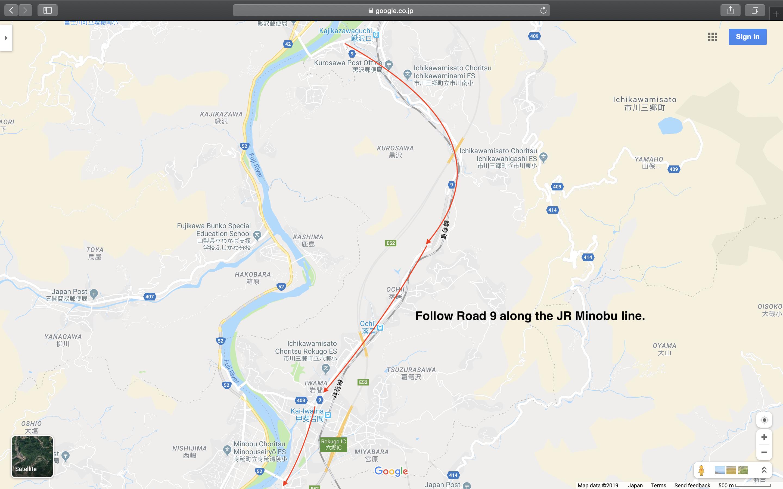 Map 7: Nagano to Mount Fuji Area