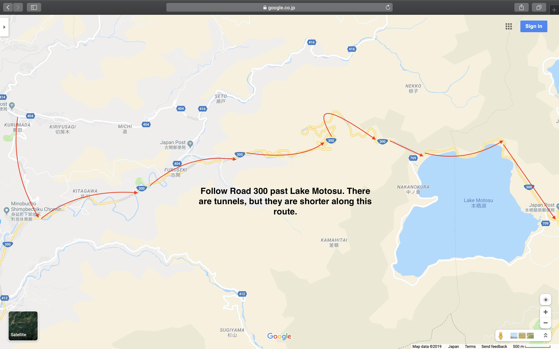 Map 9: Nagano to Mount Fuji Area