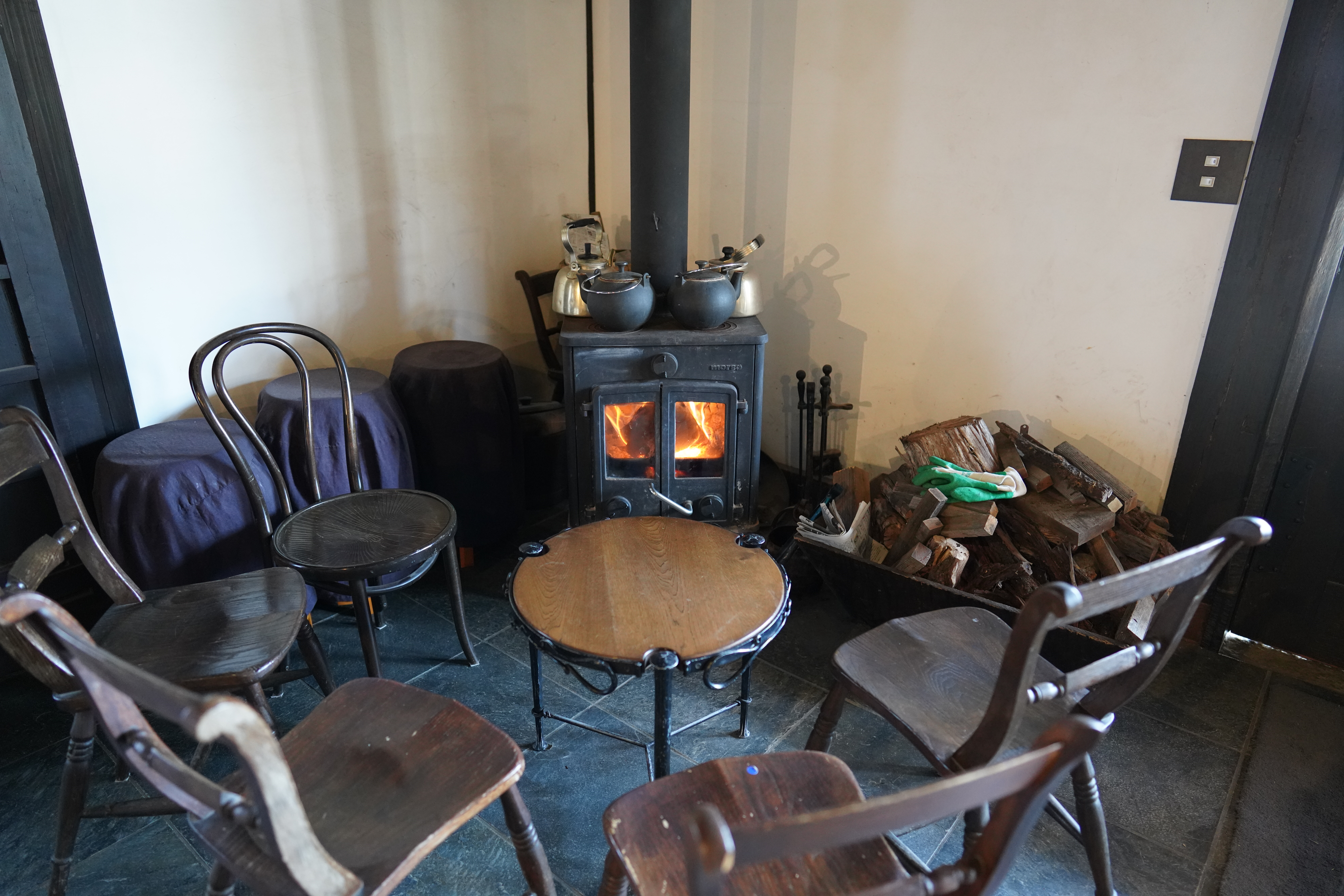 Winter comforts at Haramo Winery.